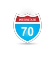 interstate 70 vector image vector image