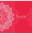 Invitation card with lace ornament 4 vector image vector image