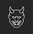 japanese mask chalk white icon on black vector image