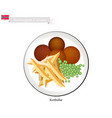 kottbullar or meatballs a popular dish in norway vector image vector image