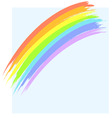 landscape and rainbow vector image vector image