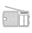 line art black and white radio vector image vector image