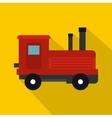Locomotive icon flat style vector image vector image