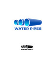 logo water pipe vector image