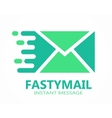 Mail logo or symbol icon vector image vector image