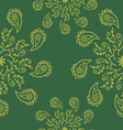 Mandala seamless pattern vector image vector image