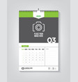 minimalist calendar template for march 2020 vector image vector image