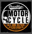 motorcycle tee graphic design vector image vector image