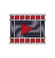 movie film strip icon play button vector image vector image