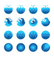 ocean wave icon set vector image