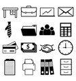 office and business icon set vector image vector image