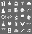 Party icons on gray background vector image vector image