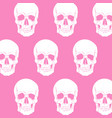 pattern with skull in realistic hand drawn vector image vector image