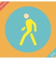 Pedestrian symbol vector image vector image