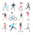 people outdoor activity healthy community vector image vector image