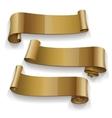 Realistic Gold Glossy ribbons set vector image vector image