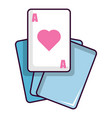 red ace magic cards icon cartoon style vector image vector image
