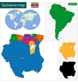 Republic of Suriname vector image vector image