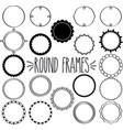 round frames multi set vector image vector image