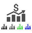 sales chart flat icon vector image vector image