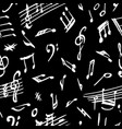 seamless background musical notes vector image