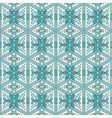 Seamless pattern of snowflakes vector image vector image