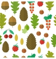 Seamless pattern with nuts and berries vector image vector image