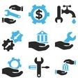 Service Tools Icon Set vector image