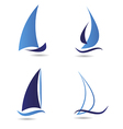 Set logos sailboat or navigation vector image