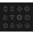 Set of line geometric shapes for logo vector image vector image