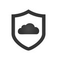 shield cloud data protection flat icon simple vector image