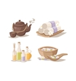 Spa sketch decorative symbols set with bamboo vector image vector image