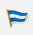 sticker national flag honduras vector image vector image