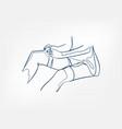 stockings body girl line art single line isolated vector image
