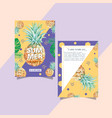summer invitation card design holiday party vector image vector image