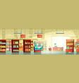supermarket trading room carton interior vector image vector image