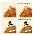 thanksgiving turkey bird collection - 3 vector image vector image