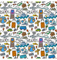 travel doodles pattern vector image