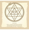 Vintage mystical astrological sign vector image vector image