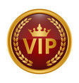 vip label on white background vector image