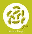 viruses allergy for medical vector image vector image