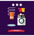 washer and accessories in vector image