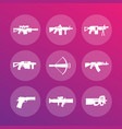 weapons firearms icons vector image vector image