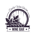 wine bar club house icon template vector image vector image