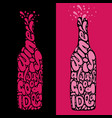 wine is always good idea hand draw lettering in vector image vector image