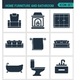 Set of modern icons Home furniture and vector image