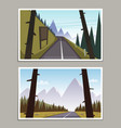 mountain asphalt road posters vector image