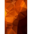 Abstract orange with brown background polygon vector image vector image