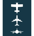 Airplane and travels vector image