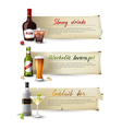 alcoholic drinks banners vector image